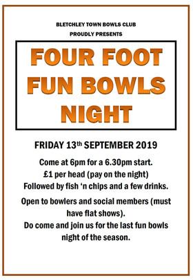 Four Foot Fun Bowls Night