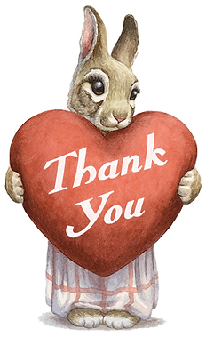Paisley Rabbit Thank You Cards