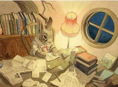 Paisley Rabbit Thank You Card