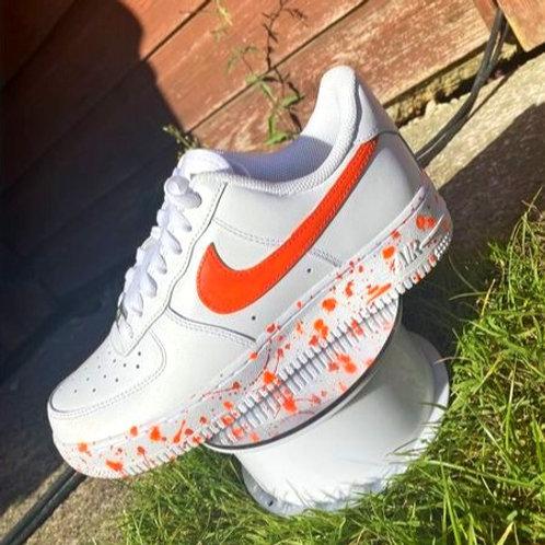 Orange splatter AF1
