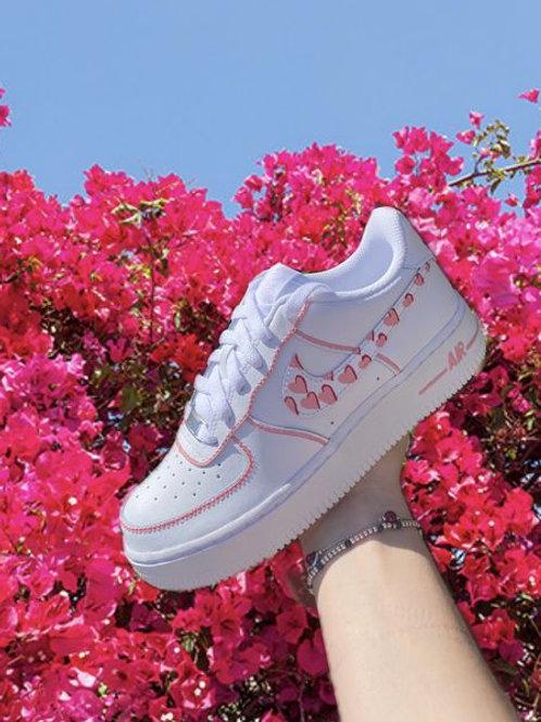 Pink heart AF1