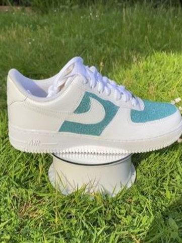 Blue glitter AF1