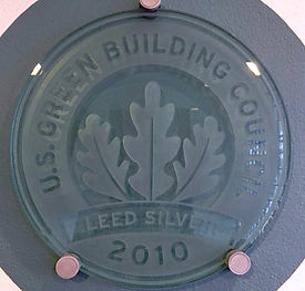 LEED certification plaque