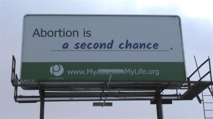Abortion is a second chance.
