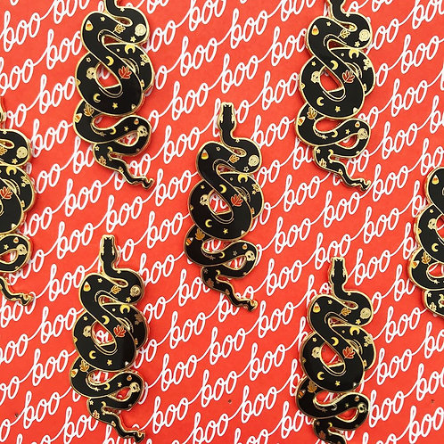 Fall Snake Enamel Pin