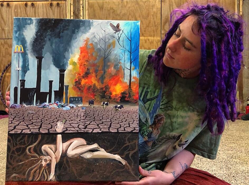 """Save Me"" - Original Acrylic and Mixed Media Painting"