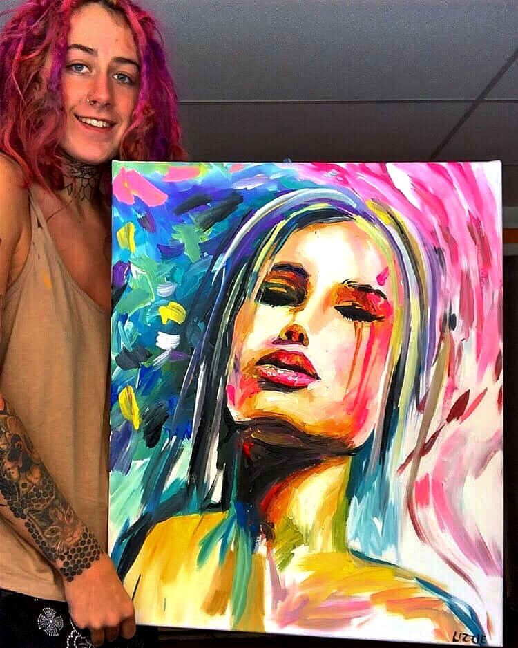 """Inspiration"" - 20"" x 24"" Canvas Acrylic Painting"