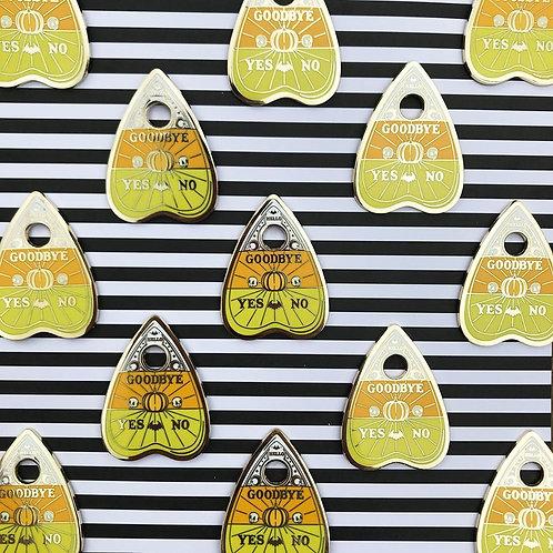 Candy Corn Planchette Enamel Pin