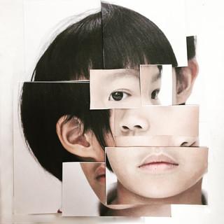 Cubist self portrait