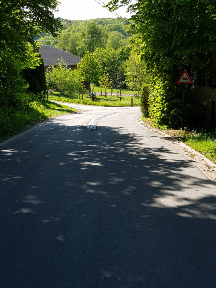 Route en asphalte & égouttage