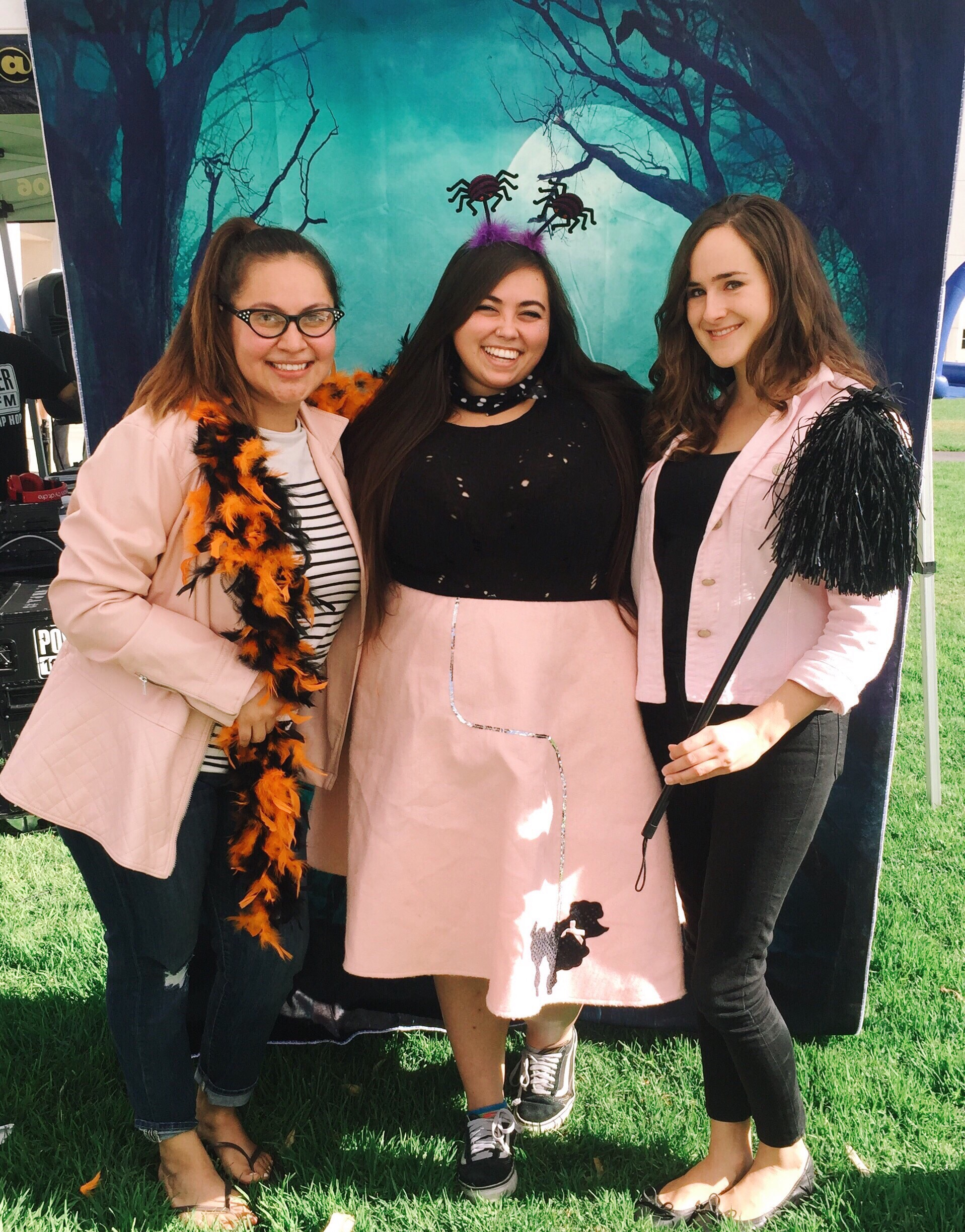 Mayra, Kiki, and Erica at fall fair