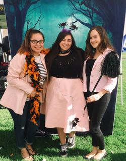 Mayra, Kiki, and Erica at fall fair