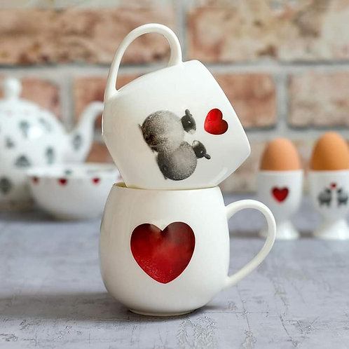Sheep & Heart mug