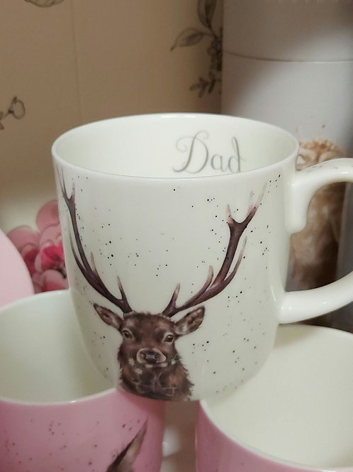 Wrendale Dad Stag Mug
