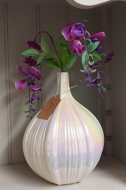 Luxury Lustre Squat Vase 25cm