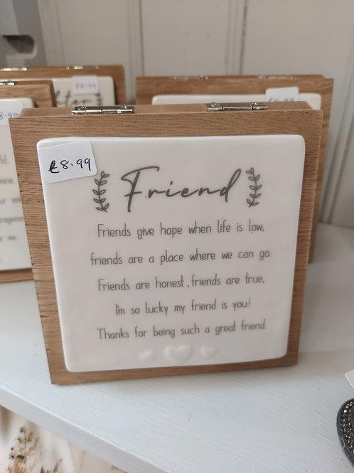 Friend plaque