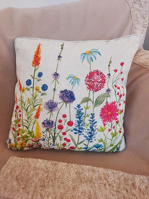 Spring floral cushion