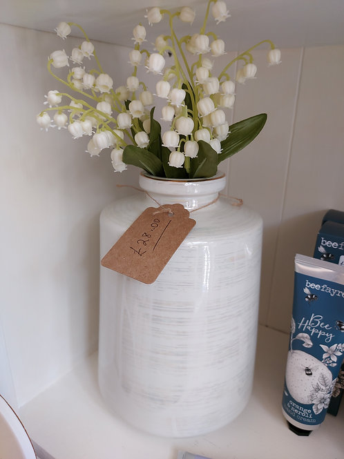 Luxury Lustre cylinder Vase 22cm