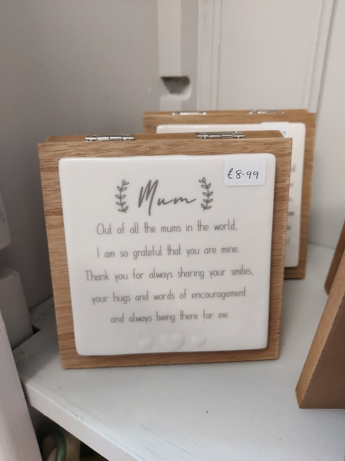 Mum forever card