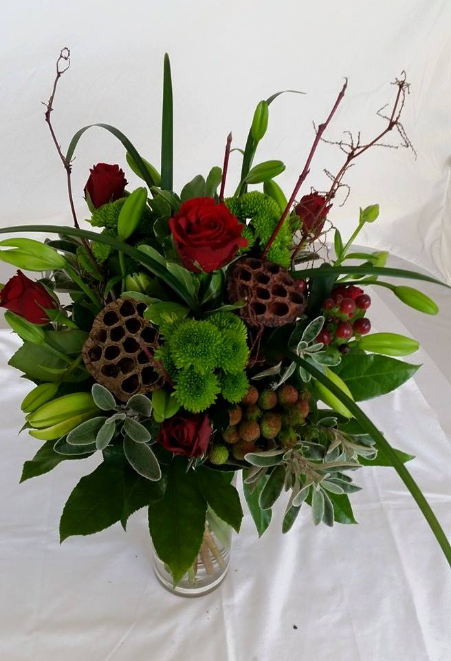 Red and Green Hand tied