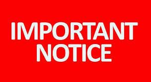 Important notice for parents