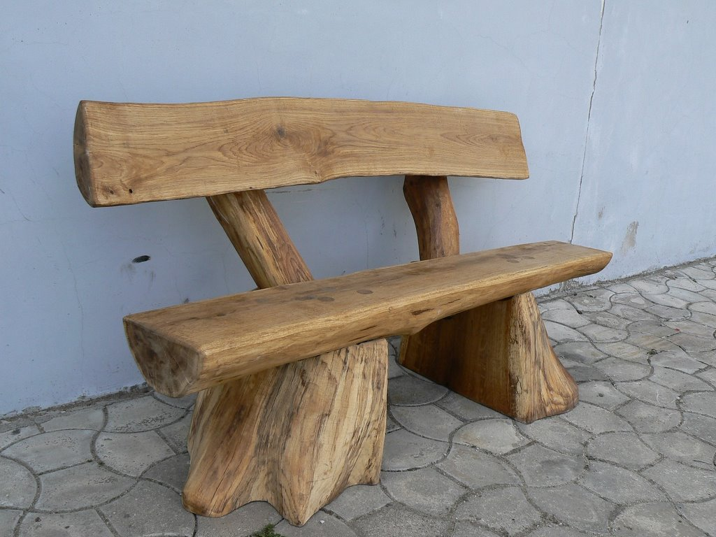 Rustic benches and chairs