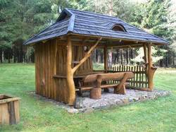 Oak timber garden getaway