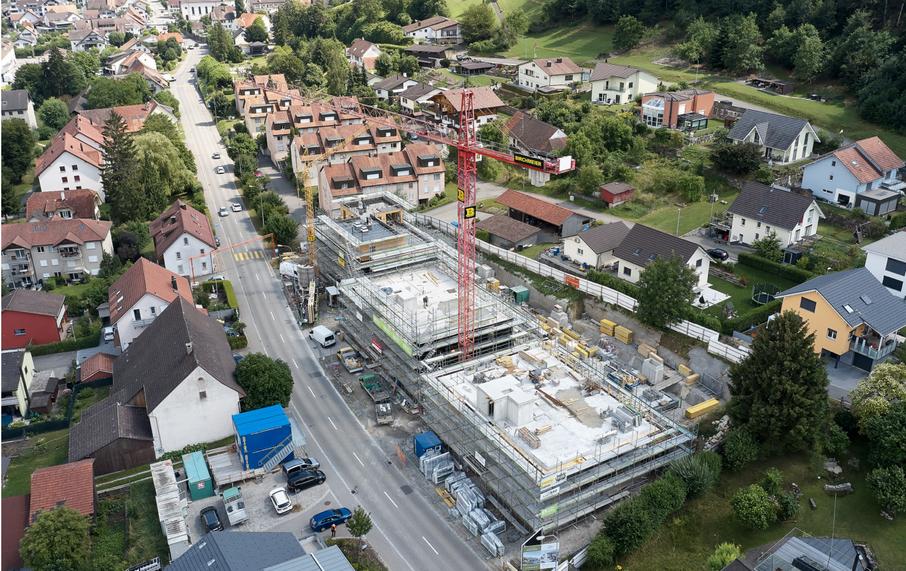 Luftbild Baustelle nord