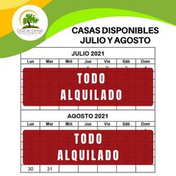 casas disponibilidad julio y agosto