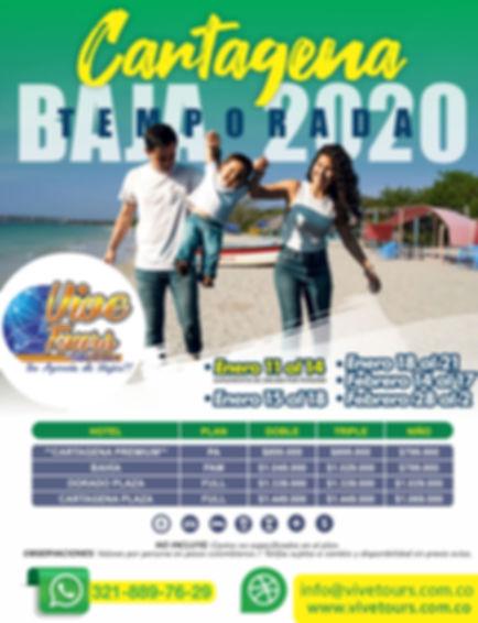 Cartagena temporada baja 2020