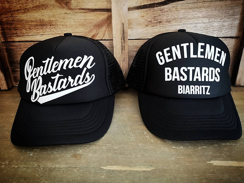 TRUCKER GENTLEMEN BASTARDS BLACK WHITE