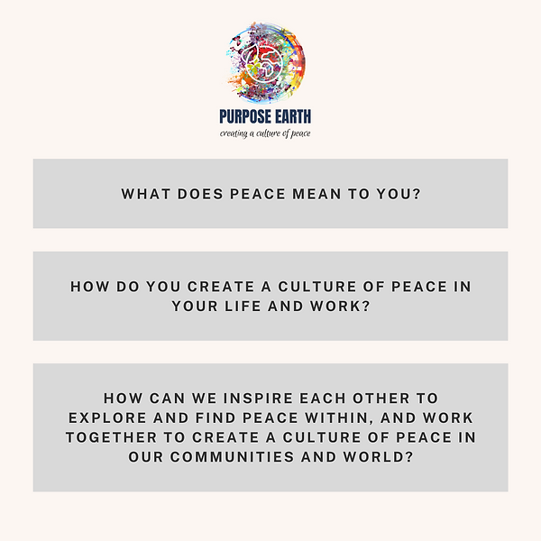 PURPOSE EARTH FOR PEACE PARTICIPATORY PO