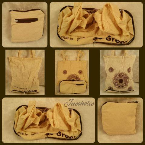 Cotton foldable bag / pouch