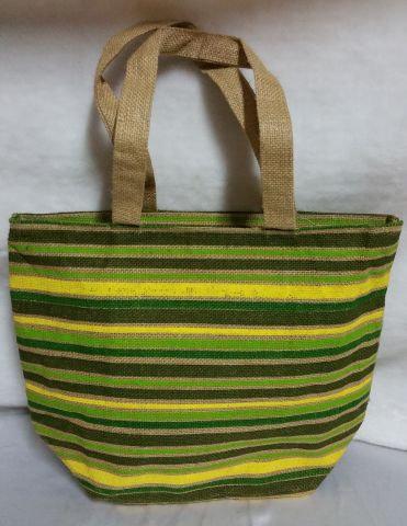 Green Stripes Handbag