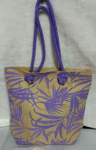 Purple Leaf Handbag