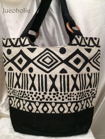 B&W print Handbag