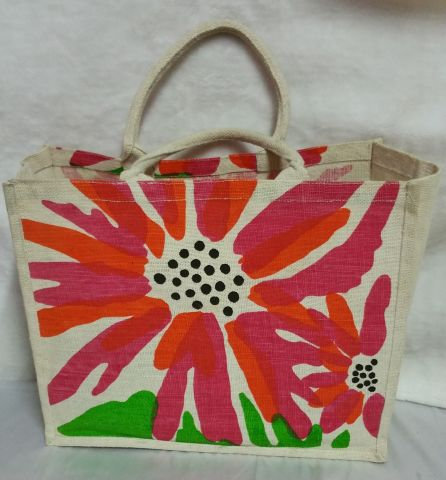 Big Multicolour Flower Print Handbag