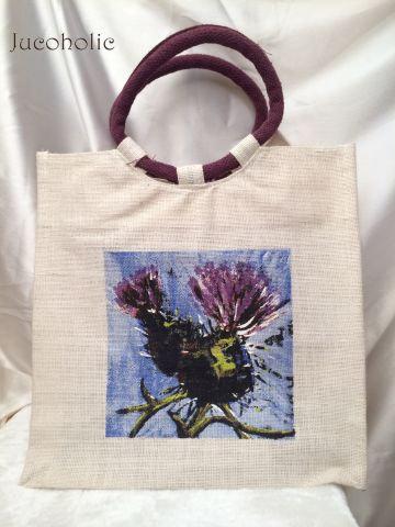 White and Purple Handbag