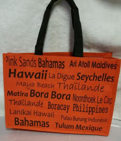 Orange Beach Bag
