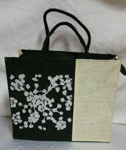 B/W Silver Print Handbag