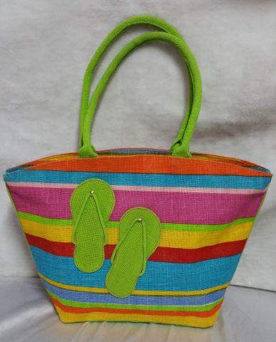 Multicolour Green Slipper Handbag