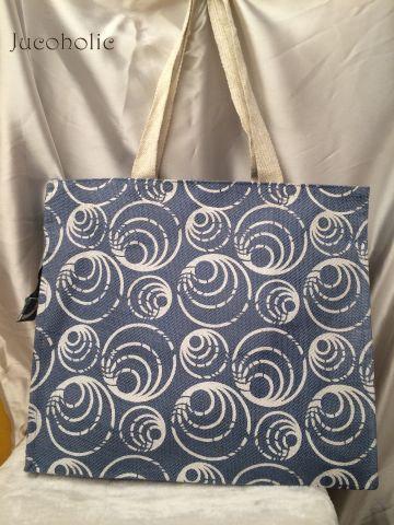 Blue & White Bubble print Handbag