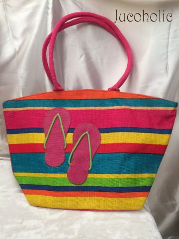 Multicolour Pink Slipper Handbag