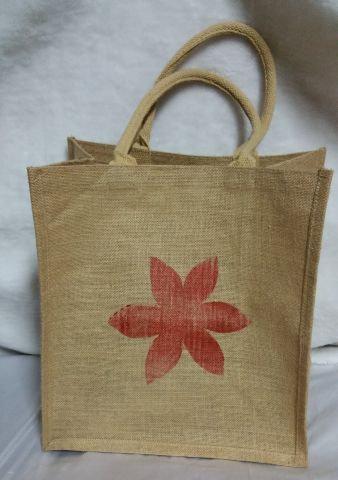 Red Flower Print Handbag