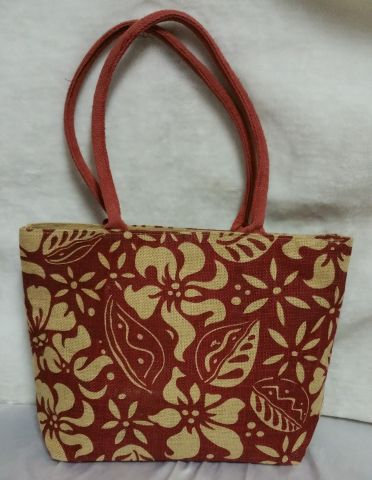 Red Flowery Print Handbag