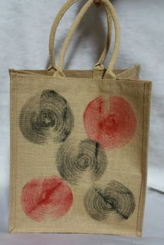 Red & Black Circle Print Handbag
