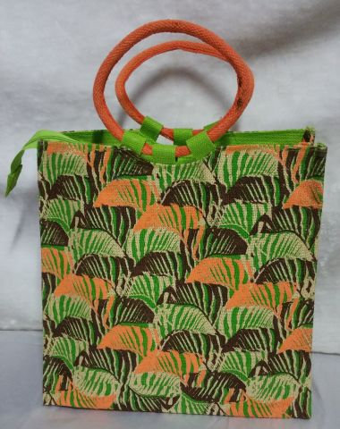 Orange Round Handle Handbag
