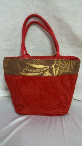Red Sisal Handbag