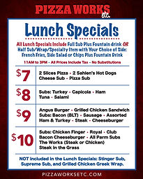 Pizza Works Lunch Specials