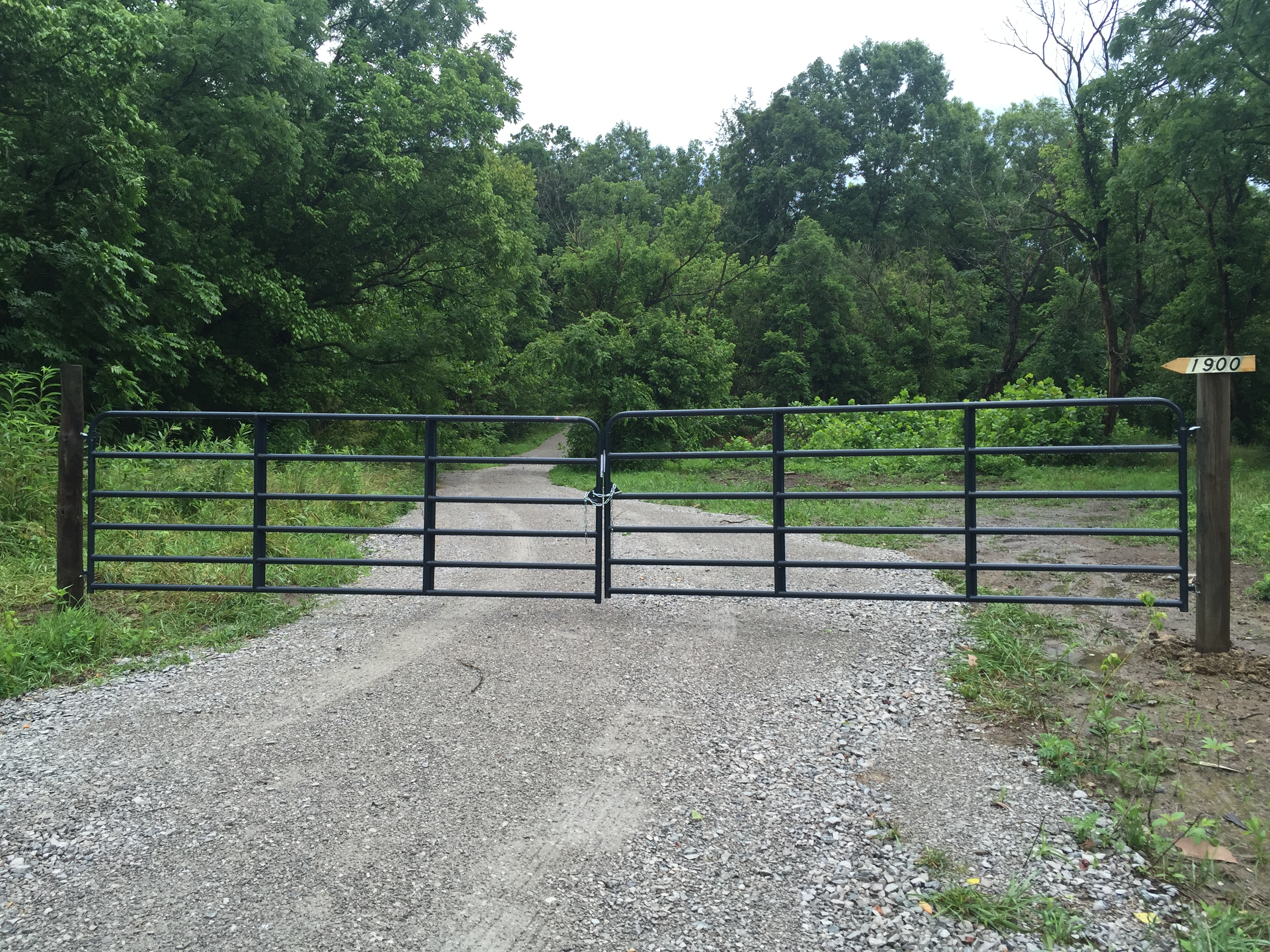 Heekin Clark Creek Road Gate